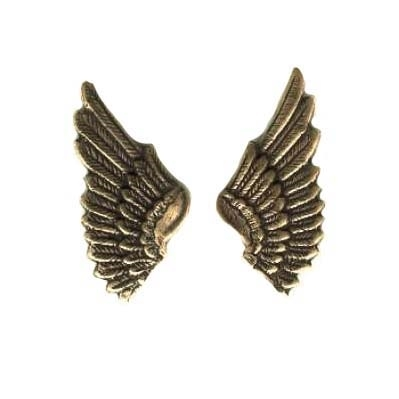 brass wings, bird wings, brass ox, 08423, antique brass, vintage jewelry supplies, brass jewelry parts, jewelry making supplies, US made, nickel free, Bsue Boutiques