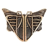 mothra stamping, brass ox, butterfly, antique brass, brass stamping, brass, mothra, butterflies, Art Deco stampings, vintage supplies, brass jewelry parts, brass findings, jewelry making, jewelry supplies, B'sue Boutiques, 56x73mm, 08944