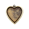 brass heart charm, brass hearts, heart pendants, brass ox, antique brass, heart mount, vintage jewelry supplies, jewelry making supplies, heart findings, 24x25mm, 09167, US made, nickel free,