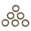 small steampunk circlets, brass ox, antique brass, steampunk, circlets, circlet, connector, clasp, brass, brass stamping, pattern circlet, one sided pattern, 6 piece, 10mm, US made, nickel free, B'sue Boutiques, jewelry making, vintage supplies, 09247