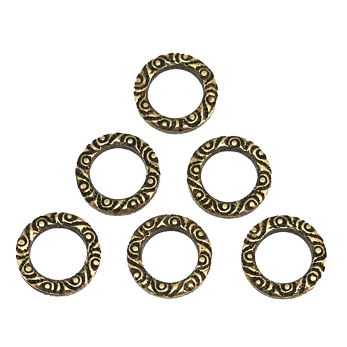 victorian circlets, brass ox, antique brass, antique brass circlets, circlets, steampunk, steampunk, circlet, pattern circlets, brass, connectors, antique brass stampings, victorian style, US made, nickel free, jewelry making, vintage supplies, 10mm,09247