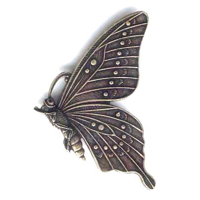 brass butterflies, butterfly jewelry, 09362, brass ox, antique brass, vintage jewellery supplies, jewelry making supplies, US jewelry making supplies, sideways butterflies, jewelry findings