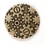 steampunk, gears, cogs, wheels, brass stampings, drilled twice, earrings, connectors, brass, vintage jewelry findings, steampunk findings, vintage jewelry supplies, vintage jewelry making supplies, vintage jewelry parts, brass ox, nickel free finishes