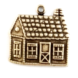 gingerbread, gingerbread house, brass stampings, brass ox, made in the USA, pendant, gingerbread house charm, pendants, house charm, house, brass house stampings, house, B'sue Boutiques,nickel free finish, vintage jewelry making supplies