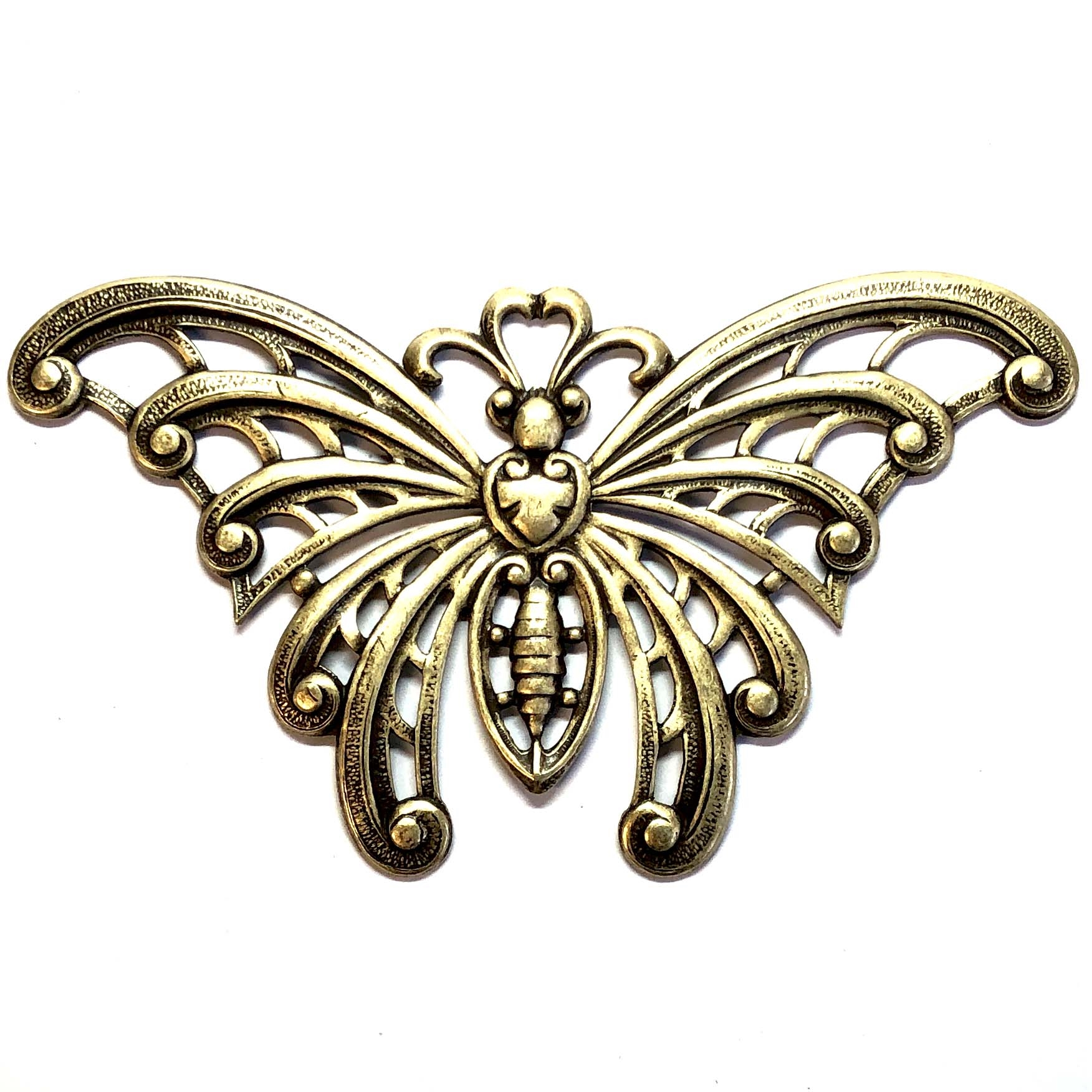 brass butterflies, jewelry making, antique brass, 09398, brass ox, jewelry making supplies, vintage jewelry supplies, US made, nickel free jewelry supplies, bsueboutiques, black antiquing