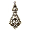 ear drop, brass ox, pendant, 09412, filigree, earring, jewelry supplies, B'sue Boutiques