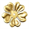 Brass Stampings, Brass Flowers, Drilled Flower, Brass Ox, 48mm