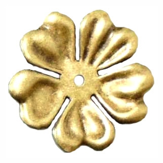 Hibiscus Flower Stamping, Brass Ox, 09786, Flower, Drilled Flower, Assemblage, Layering Flower, B'sue Boutiques, jewelry supplies, 48mm