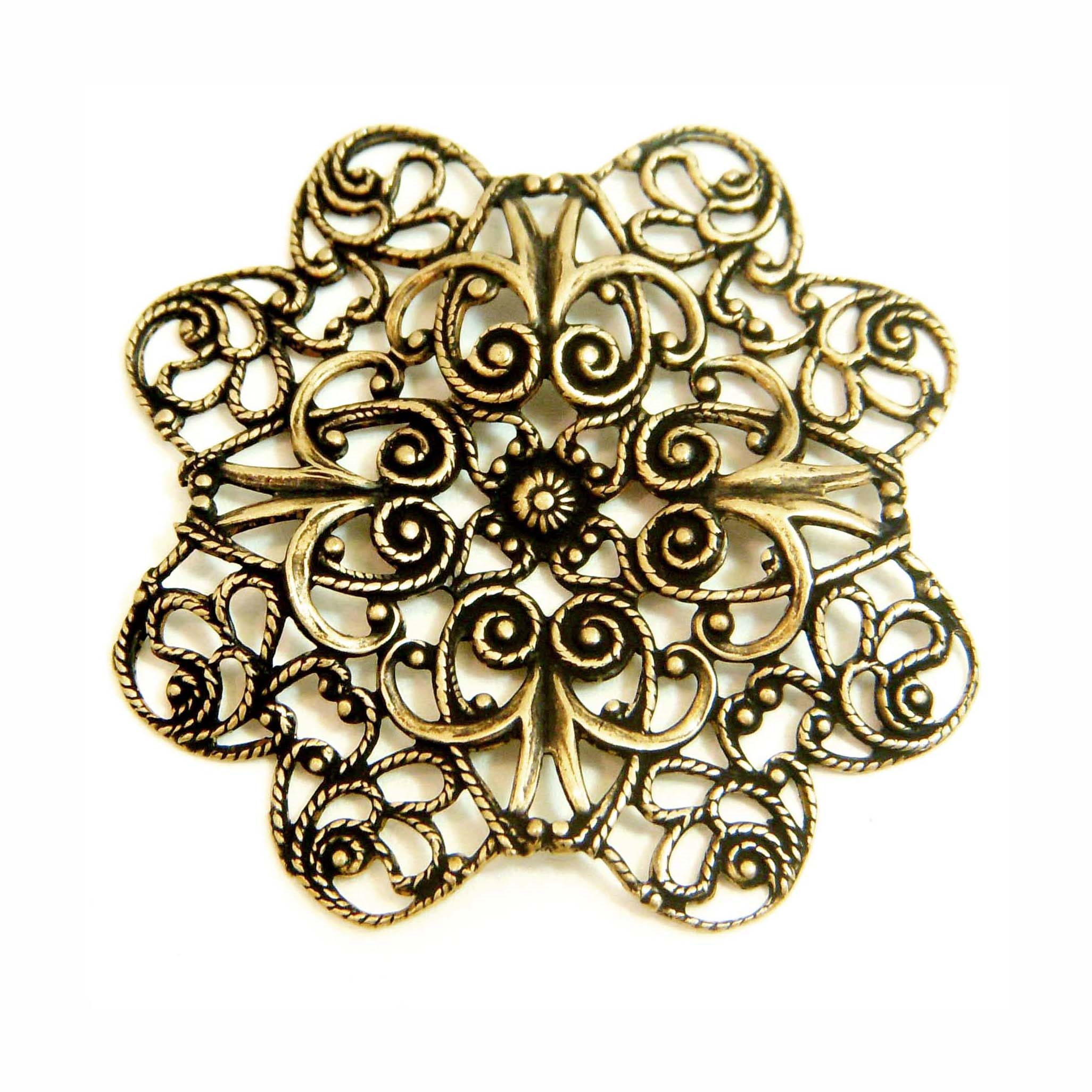 Brass Ox Filigree, Plaque, 09833, filigree, stamping, brass ox, vintage design, vintage stamping, jewelry supplies, jewelry making, bsue boutiques, vintage, centerpiece