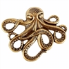 Brass Stamping, Brass Octopus, Sea Creatures, Brass Ox, 54 x 64mm