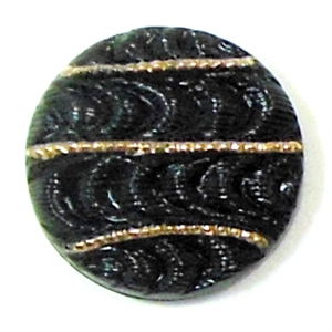 Button Cabochon, Czech Glass, Pinwheel Design, Scarabe, 18mm
