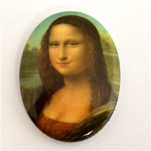 cameo, Mona Lisa, German porcelain, jewelry making, 40 x 30mm,0175, B'sue Boutiques, jewelry making supplies, vintage jewelry supplies, cameo findings, jewelry findings, vintage jewelry