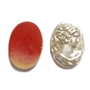 vintage pearlized cameo, Victorian lady, 03147, vintage jewelry supplies, jewelry making supplies, Bsue Boutiques, imported resin cameos, 25 x 18mm cameos,