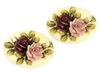 rose cameo, vintage, burgundy, pink, flowers, ivory decal, German, 40x30mm, plastic, roses, pink rose, burgundy rose, old cameos, loose cameos, cameos for jewelry making, jewelry cameos, B'sue Boutiques cameos, vintage cameos, cameo jewelry, 03149