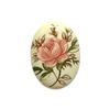cameo, porcelain, rose cameo, pink, 25 X 18mm, chintz rose cameo, pink rose, vintage jewelry supplies, jewelry making supplies, Bsue Boutiques, porcelain cameos