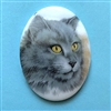 cat cameo, 40x30mm, 03208, cameos, portrait cameo, cats, kitty, kitties, porcelain cameo, decal cameo, B'sue Boutiques, jewelry supplies