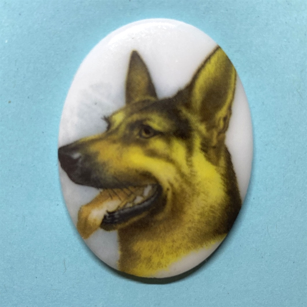 dog cameo, 40x30mm, 03370, cameos, portrait cameo, dogs, porcelain cameo, decal cameo, B'sue Boutiques, jewelry supplies, German decal cameo, pets