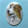 dog cameo, 40x30mm, 03371, cameos, portrait cameo, dogs, porcelain cameo, decal cameo, B'sue Boutiques, jewelry supplies, German decal cameo, pets, Fox Terrier