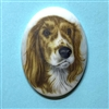 dog cameo, 40x30mm, 03374, cameos, portrait cameo, dogs, porcelain cameo, decal cameo, B'sue Boutiques, jewelry supplies, German decal cameo, pets, Cocker Spaniel
