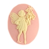 cameo, fairy cameo, cornelian and pink, 25 x 18mm, 04029, B'sue Boutiques, cameo, fairy jewelry making supplies, vintage jewelry supplies, fairy jewelry, jewelry findings,