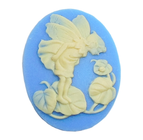 cameo, fairy cameo, white and blue, 40 x 30mm, 04030, B'sue Boutiques, cameo, fairy jewelry making supplies, vintage jewelry supplies, fairy jewelry, jewelry findings,