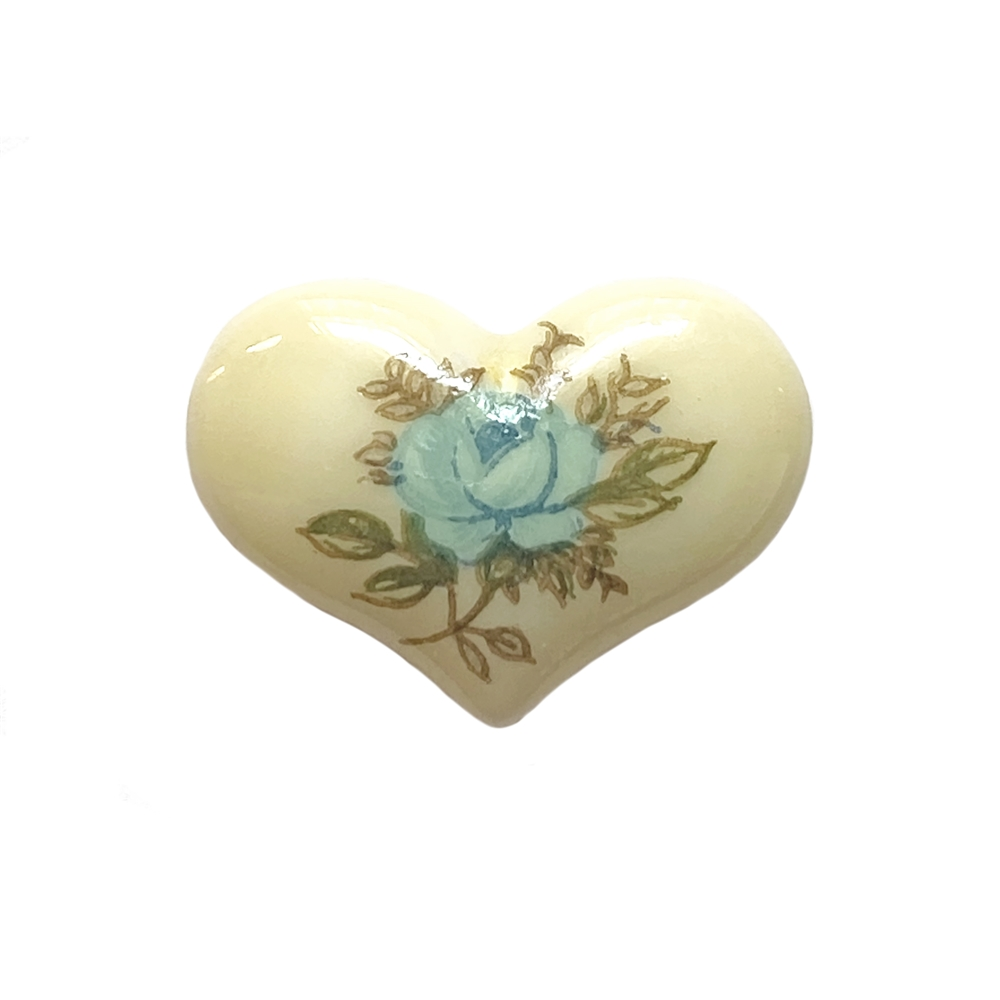 blue heart cameo, blue, cameo, rose, porcelain, 18x14mm, made in Germany, decal, rose cameo, heart cameo, flat back, B'sue Boutiques, jewelry findings, vintage supplies, jewelry making, jewelry supplies, cameo jewelry, 04310, German decal, heart,