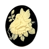 cameo, fairy cameo, cream and black, 25 x 18mm, 05273, B'sue Boutiques, cameo, fairy jewelry making supplies, vintage jewelry supplies, dragonfly jewelry, jewelry findings,