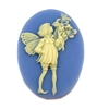 cameo, fairy cameo, white and blue, 25 x 18mm, 05275, B'sue Boutiques, cameo, fairy jewelry making supplies, vintage jewelry supplies, fairy jewelry, jewelry findings,