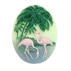 cameo, flamingo, jewelry making, 40x30mm, 06553, bird jewelry, resin cameos, flamingo cameos, jewelry making supplies, vintage jewelry supplies, bsueboutiques,
