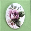 vintage floral cameo, German decal cameos, plastic cameos, 40x30mm, decal, German decal, picture stone, pink rose cameo, flat back, B'sue Boutiques, vintage supplies, jewelry supplies, jewelry findings, jewelry making, 06984