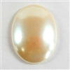 vintage pearl cameo, plastic, imitation pearl, 40 x 30mm, 07111, B'sue Boutiques,  vintage jewelry supplies, flat back cameos, jewelry findings, vintage jewelry making supplies, cameo jewelry