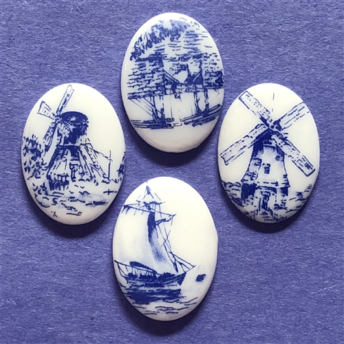 porcelain cameos, decal cameos, B'sue Boutiques, 07252, made in Japan, decal transfers, flat back cameos, jewelry making, jewelry supplies, vintage jewelry supplies,  nautical cameos, ship cameos, light houses, wind mill cameos, vintage cameos