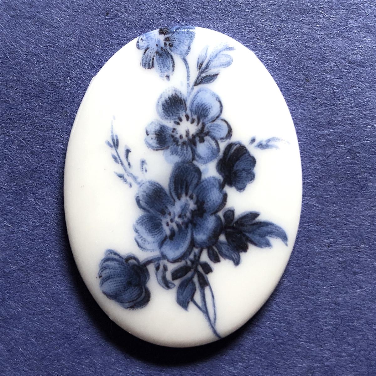 Porcelain Cameo Blue And White 07255 Floral Cameo Cameo Blue