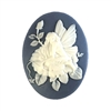 fairy, cameo, Wedgewood blue, 40x30mm, 07481