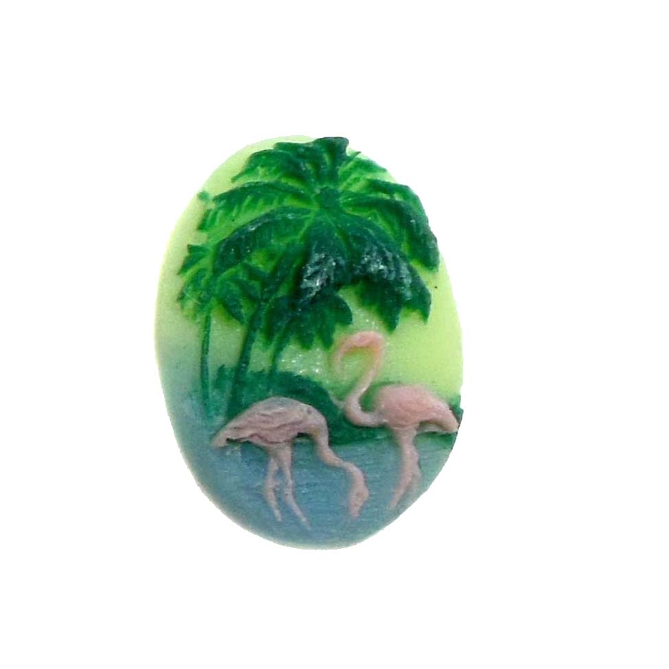 cameo, flamingo, jewelry making, 18x13mm, 07483, bird jewelry, resin cameos, flamingo cameos, jewelry making supplies, vintage jewelry supplies, bsueboutiques,