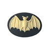 bat cameo, 075, resin, cameo, black cameo, ivory bat, animals, wildlife, bats, bat, cameos