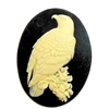 eagle cameo, cream over black, 40x30mm, 09414, jewelry making supplies, jewelry making, vintage jewelry supplies, bsueboutiques, bird jewelry, eagle jewelry, cameo findings