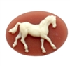 horse cameo, horse, carnelian, cameo, ivory, ivory over dark carnelian, 18x25mm, stallion, prancing, prancing horse, resin, quarter horse, B'sue Boutiques, us made, jewelry findings, jewelry making, vintage supplies, jewelry supplies, horse jewelry, 09579