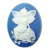 sitting blue fairy sprite cameo, fairy cameo, fairy, fairy sprite, floral fairy cameo, blue fairy, cameo, 40x30mm, cameo jewelry fairy jewelry, sitting fairy, jewelry making, vintage supplies, jewelry supplies, jewelry findings, B'sue Boutiques, 09832