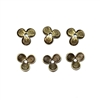 brass bead caps, floral bead caps, 01796, brass ox, black antiquing, brass flower caps, vintage jewelry supplies, flat caps, 9mm bead caps, beading supplies