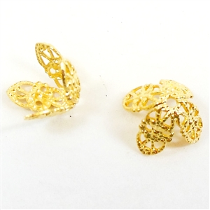 brass beads caps, filigree, jewelry supplies