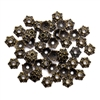 flower bead caps, zinc alloy, antique bronze, 04706, vintage jewelry supplies, beading supplies, jewelry making supplies, B'sue Boutiques, jewelry supplies,