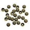 flower bead caps, zinc alloy, antique bronze, 04898, vintage jewelry supplies, beading supplies, jewelry making supplies, B'sue Boutiques, jewelry supplies, 8mm