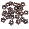 Floral bead cap, antique copper, bead cap, 12mm, 10 pieces, cap, bead, jewelry making, vintage supplies, jewelry supplies, caps, B'sue Boutiques, 09148, bead caps, flower