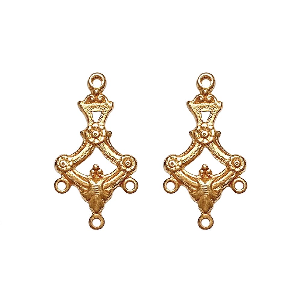 floral ear drops, classic gold finish, antique gold, ear drops, charms, drops, jewelry drops, jewelry earrings, 20x12mm, floral drops, jewelry making, jewelry findings, vintage supplies, gold, classic gold, B'sue Boutiques, US-made, 02275