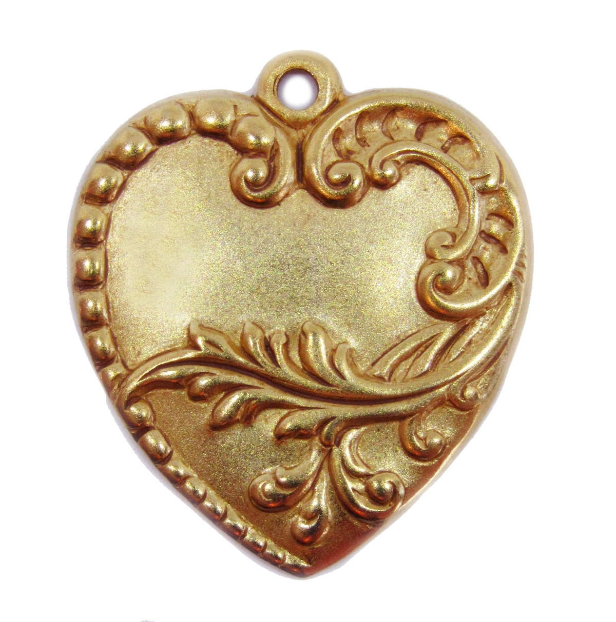 Victorian floral charm classic gold plated hearts brass stamping larger photo aloadofball