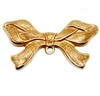 ribbon bow, classic gold plated, brass stamping, bow, ribbon, brass, ribbon jewelry, charm enhancer, classic gold, 22x42mm, gypsy ribbon, charm, stamping, us made, nickel free, B'sue Boutiques, jewelry making, jewelry findings, vintage supplies,04983