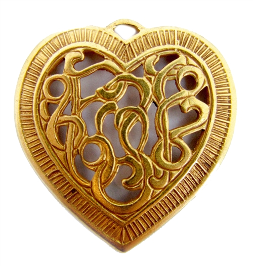 victorian filigree heart, filigree heart, heart, victorian, pendant, pendant heart, filigree, classic gold plated, gold, gold plated, classic gold, 28x27mmvintage supplies, nickel free, jewelry supplies, us made, B'sue Boutiques, jewelry making, 05003