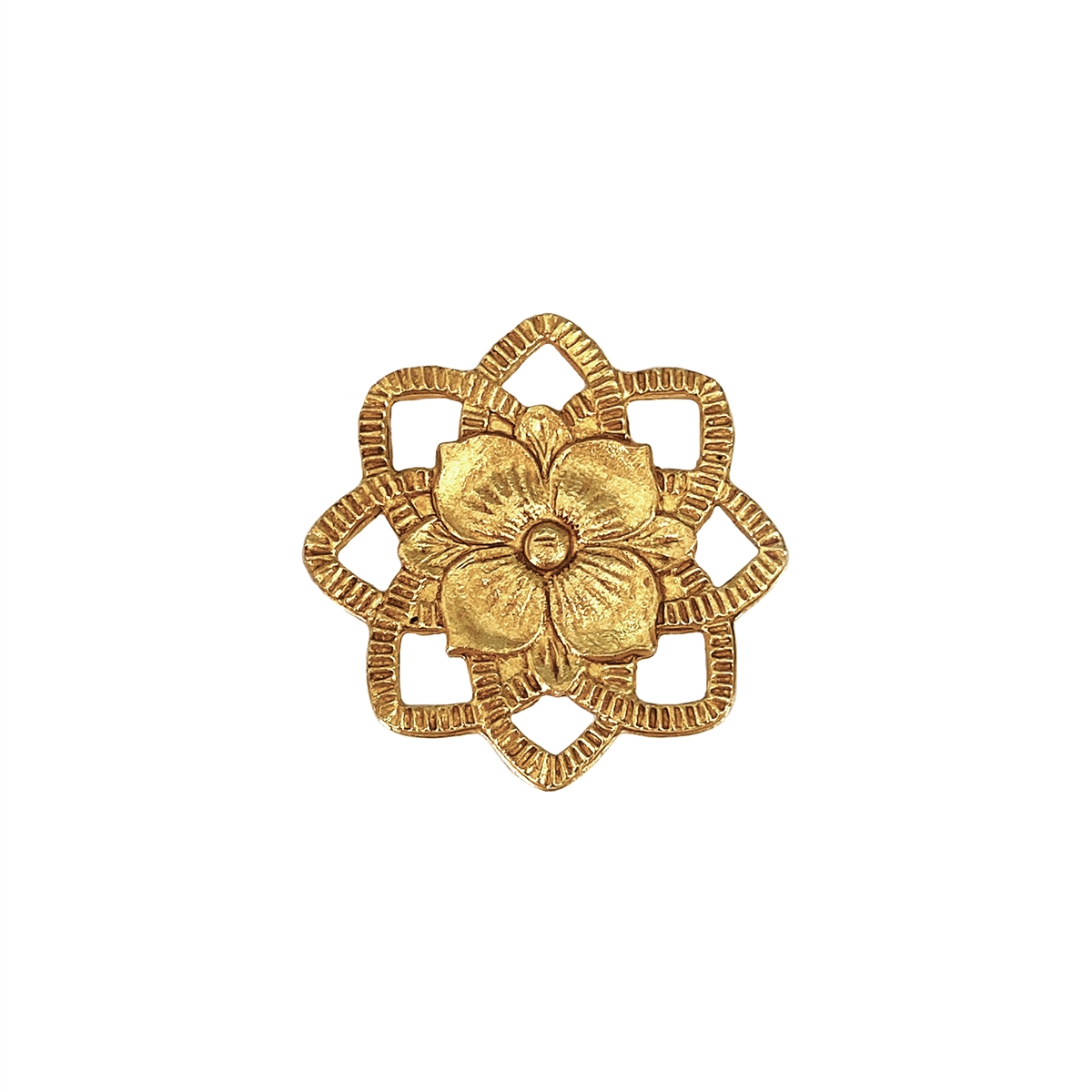 brass flower brass connector jewelry making classic gold antique