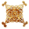 smaller x shape style filigree, classic gold plated, filigree, beading filigree, gold, gold plated, 36mm, stamping, classic gold, jewelry making, jewelry wrap, jewelry supplies, brass jewelry parts, vintage supplies, beading supplies, 05032